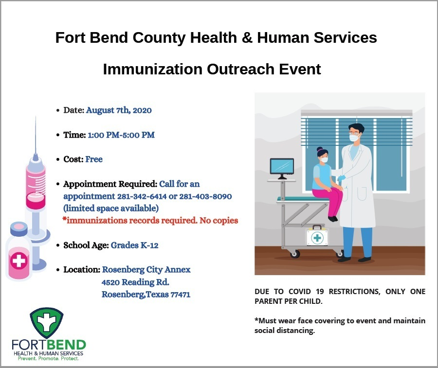 Fort Bend County Health & Human Services Immunization Outreach Event