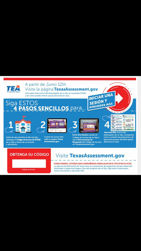 TEA STAAR access Spanish version